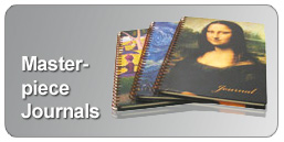 wirebound journals with masterpiece covers